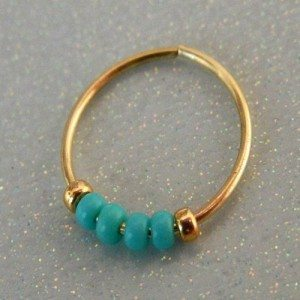 nose ring jewelry with beads
