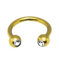 Give a New Dimension to Your Look with Gold Circular Barbell