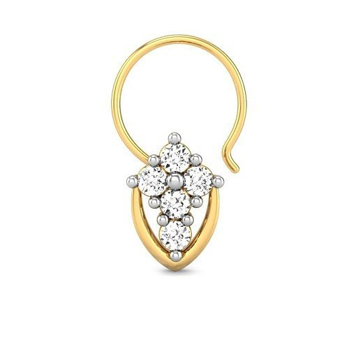 Gold Diamond Nose Pin