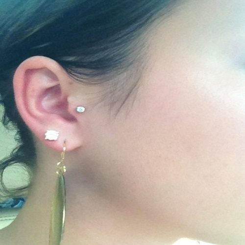 tragus jewelry with gems