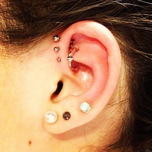silver helix jewelry