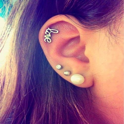types of helix jewelry piercing