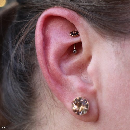 rook piercing jewelry type