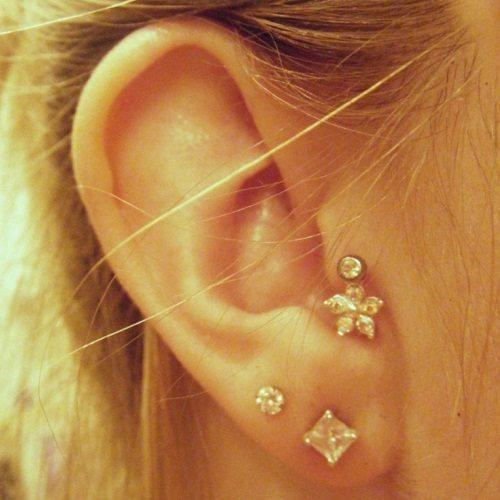 Stylish Tragus Piercing Jewelry Types