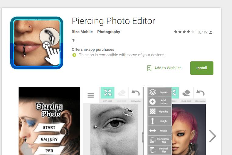 Piercing App