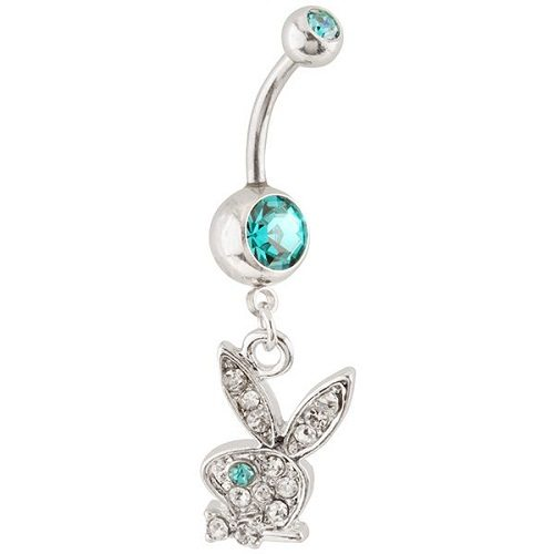 surgical steel belly button rings playboy design