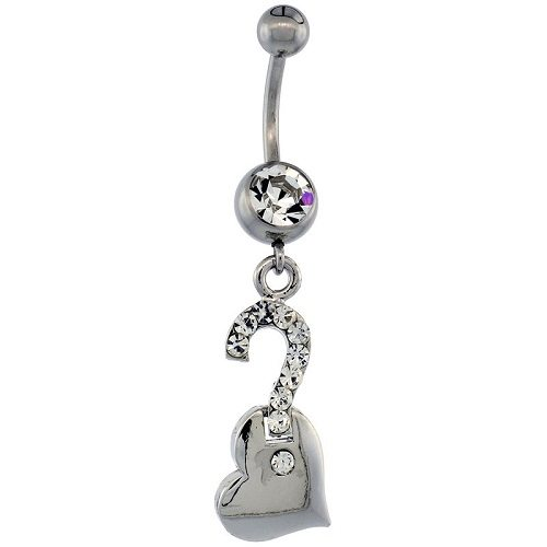 surgical steel belly button rings types