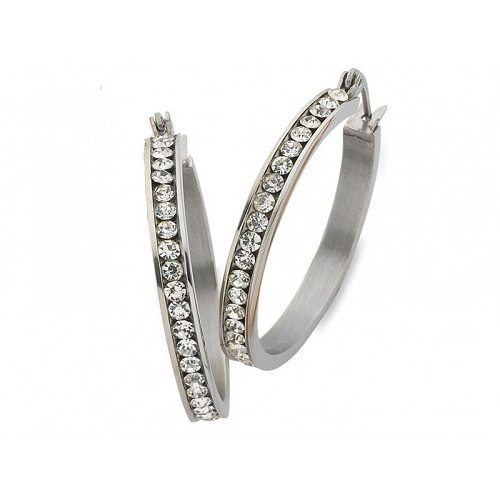 Diamond Stainless Steel Earring