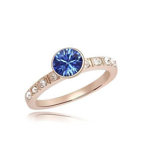 Blue Crystal Finger Ring