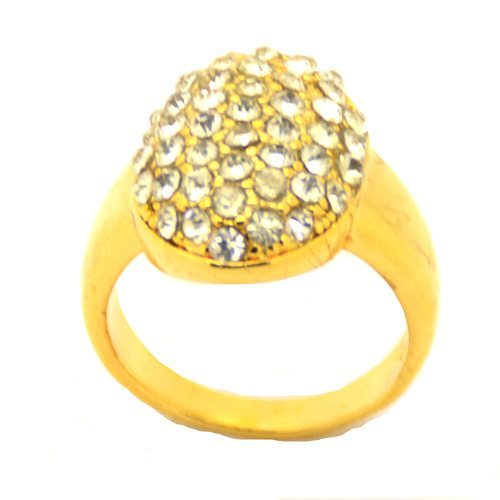 Gold Crystal Finger Ring