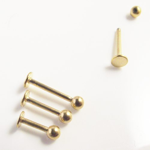 affordable Gold Labret rings