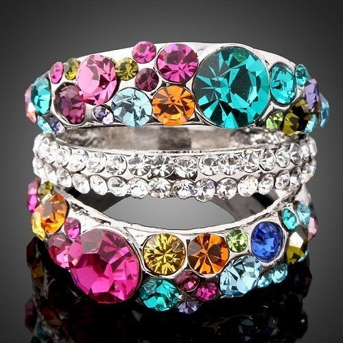 Classic Designed Crystal Finger Ring