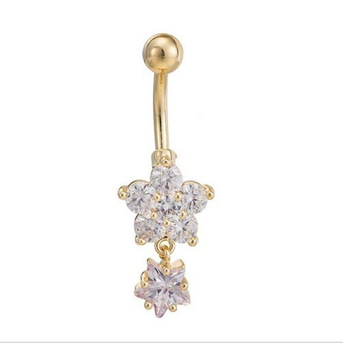 Cute Gold Belly Button Rings