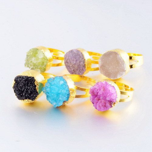 Colorful Crystal Finger Ring