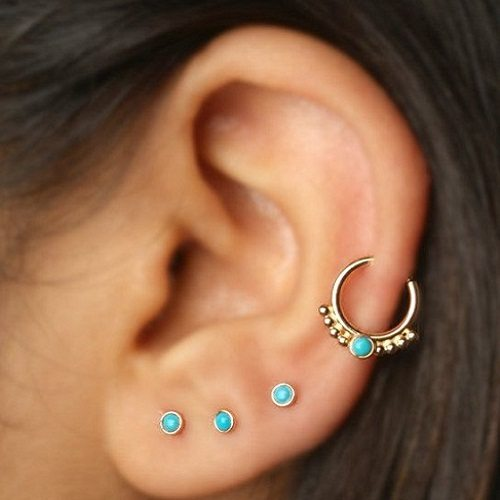 Helix ear jewelry with stones