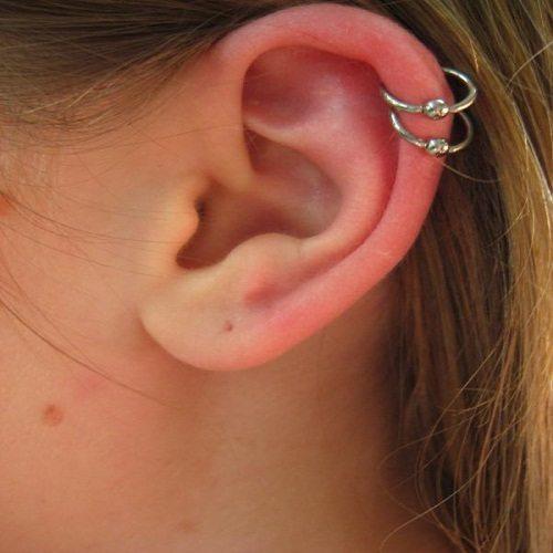 Helix ear jewelry ring