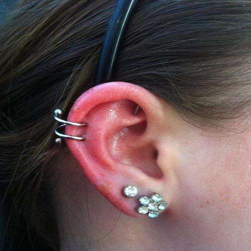 silver Helix ear jewelry