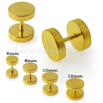 anodized ear stretching plug for ears