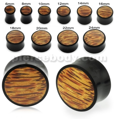 Wood fake ear plug stud