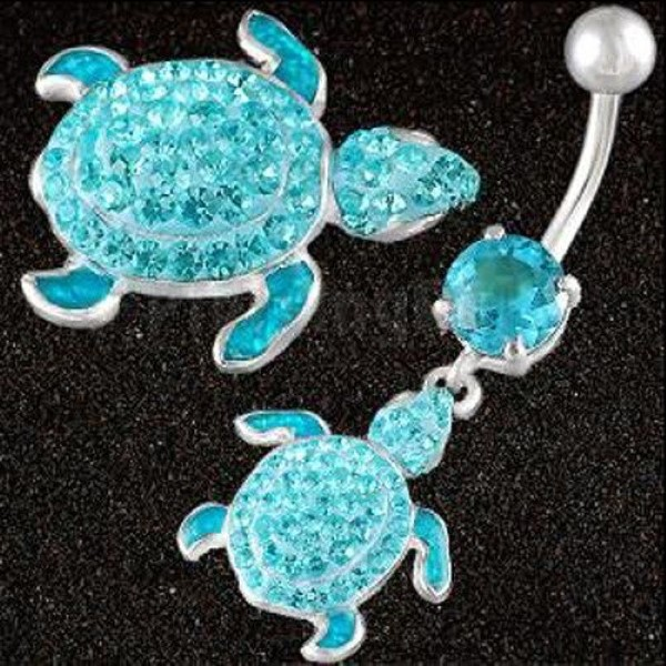 cute-belly-button-rings-matching-turtles