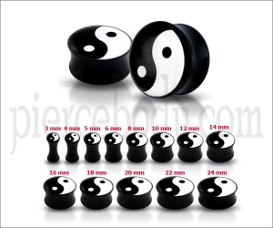 yinyang ear plugs jewelry