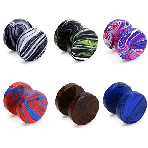 6pcs-assorted-wholesale-lot-bling-bling-fake-plug-illusion-tunnel-double-side-screw-stud-earrings_28935120