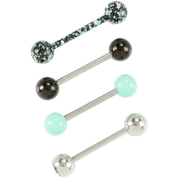 tongue piercing ring jewelry