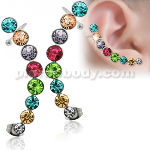 colored fake ear gauges