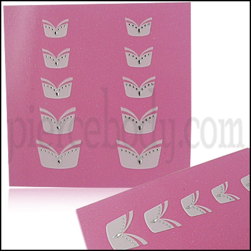 diamond french nail stickers