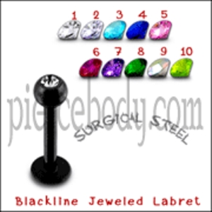 jeweled colorful labrets