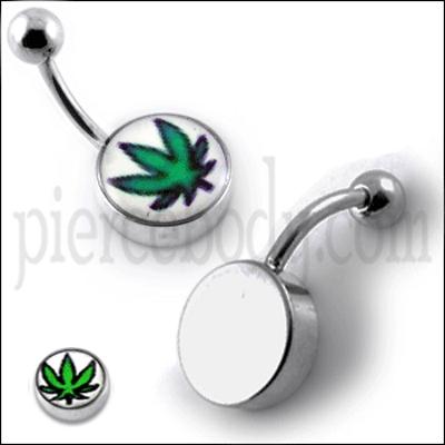marijuana belly rings