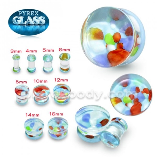 multi color glass earplug