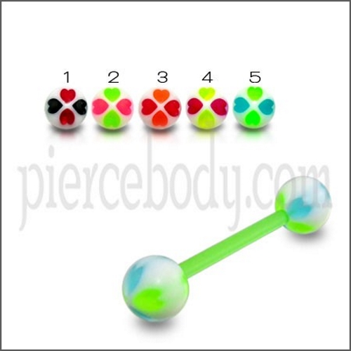 Aoneitem UV green barbell
