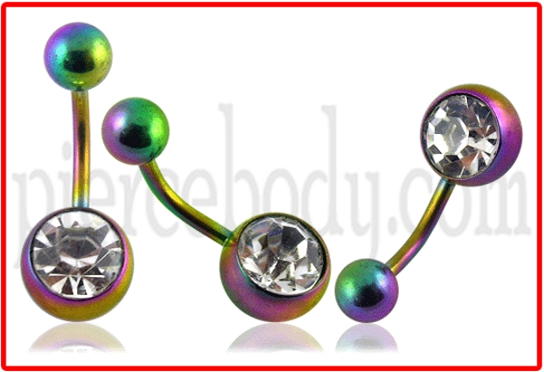 anodized belly ring types