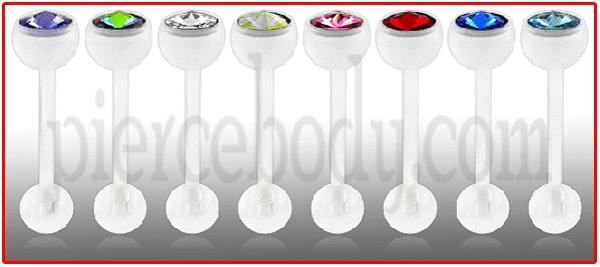 bioplastic exotic tongue jewelry