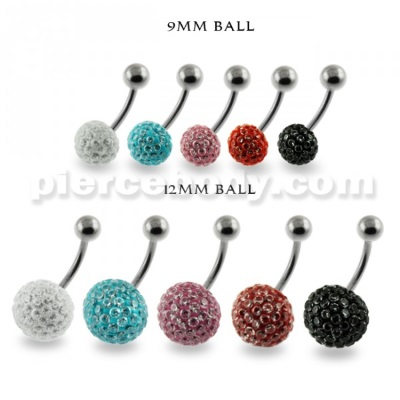 jeweled dangling belly button jewelry