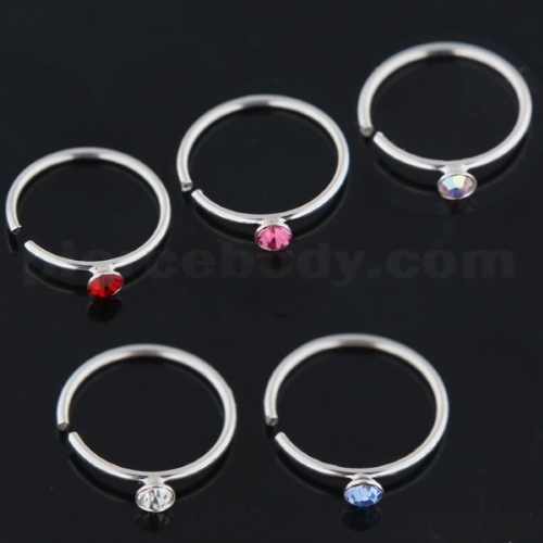 silver nose studs