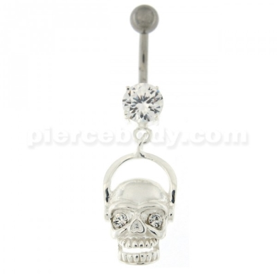 skull belly pierce