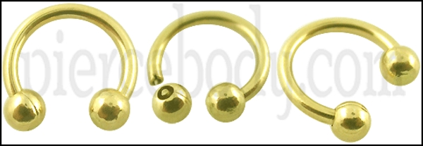 gold circular barbell collection