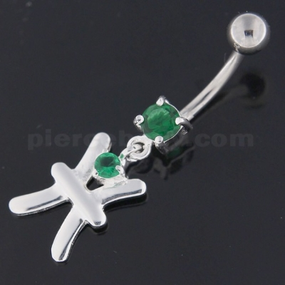 sterling silver belly rings