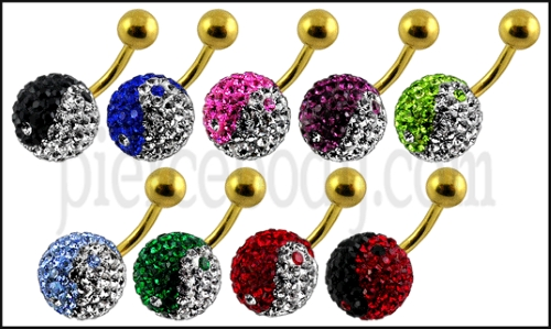 anodized belly ring