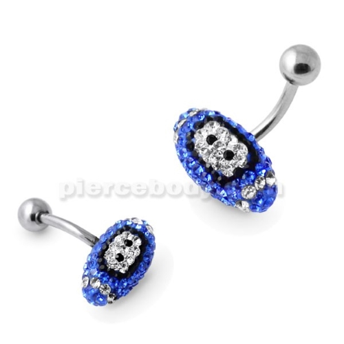blue crystal rugby belly bar