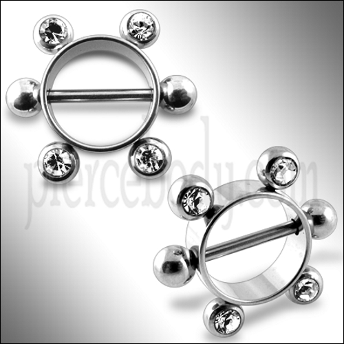 surgical steel nipple rings