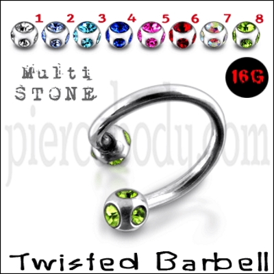 titanium twisted barbell