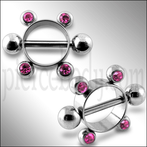 pink jeweled rounder