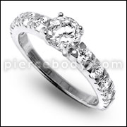 Jeweled Fashion Silver Ring