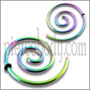 Surgical Steel Spiral Ear Plug