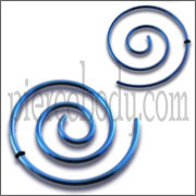 Anodized Spiral Ear Plug