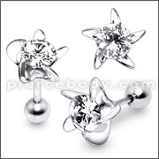 Round Crystal stone Fake Ear Plug