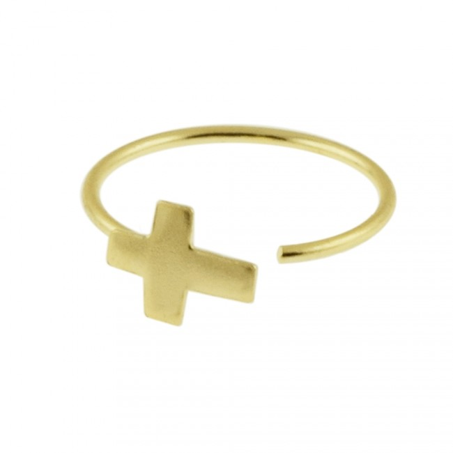 Best Prices For Hoop Nose Ring 14k Gold Cross Open 14knr0